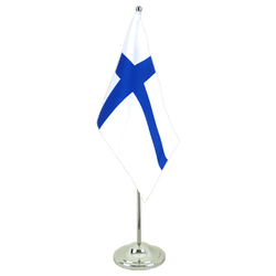 Finland Satin Table Flag 6x9""