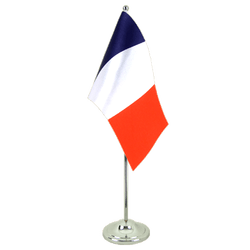 Drapeau de table prestige France - 15 x 22 cm