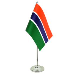 Gambia Satin Table Flag 6x9""