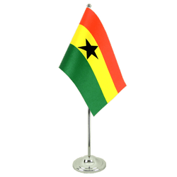 Ghana  Satin Table Flag 6x9""