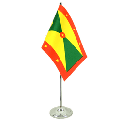 Grenada Satin Table Flag 6x9""