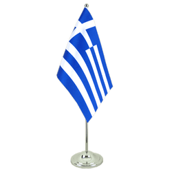 Greece Satin Table Flag 6x9""