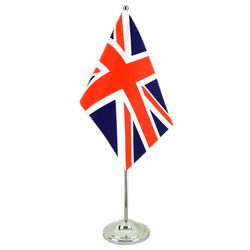 Great Britain Satin Table Flag 6x9""