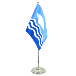 Drapeau de table prestige Royaume-Uni Isle-of-Wight 15 x 22 cm