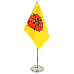 Lancashire new Satin Table Flag 6x9""
