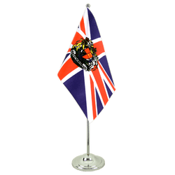 Great Britain with crest Satin Table Flag 6x9""