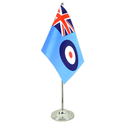 Drapeau de table prestige Royaume-Uni Royal Airforce 15 x 22 cm