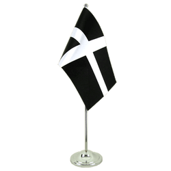 St. Piran Cornwall - Satin Table Flag 6x9""