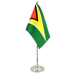 Guyana Satin Table Flag 6x9""