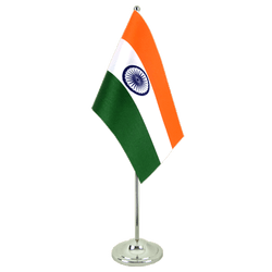 Drapeau de table prestige Inde 15 x 22 cm