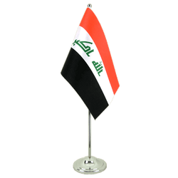 Iraq 2009 Satin Table Flag 6x9""