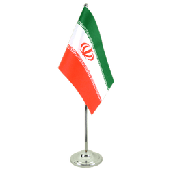 Iran  Satin Table Flag 6x9""