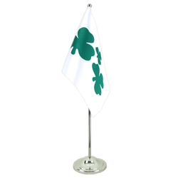 Shamrock Satin Table Flag 6x9""