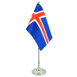 Iceland - Satin Table Flag 6x9""