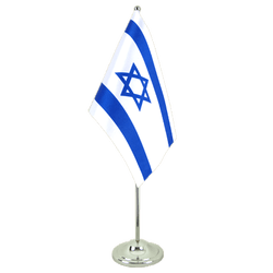 Israel - Satin Table Flag 6x9""