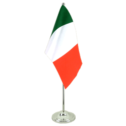Italy - Satin Table Flag 6x9""