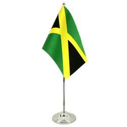 Jamaica - Satin Table Flag 6x9""