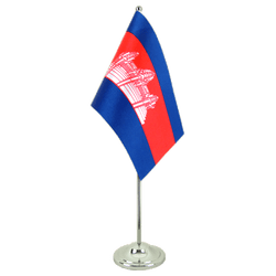 Cambodia Satin Table Flag 6x9""