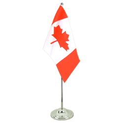 Canada Satin Table Flag 6x9""