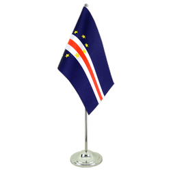 Cape Verde - Satin Table Flag 6x9""