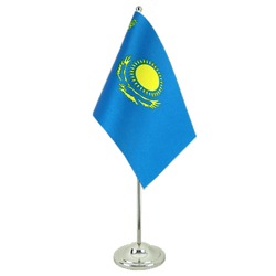 Kazakhstan - Satin Table Flag 6x9""