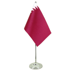 Qatar Satin Table Flag 6x9""