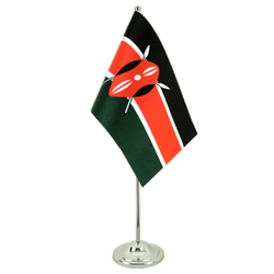 Kenya Satin Table Flag 6x9""