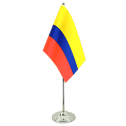 Drapeau de table prestige Colombie 15 x 22 cm