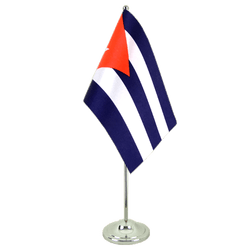 Cuba  Satin Table Flag 6x9""