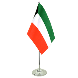 Kuwait Satin Table Flag 6x9""