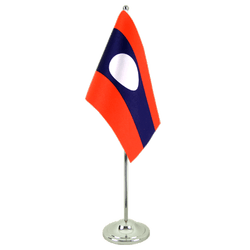 Drapeau de table prestige Laos 15 x 22 cm