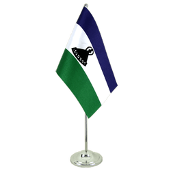 Lesotho new - Satin Table Flag 6x9""