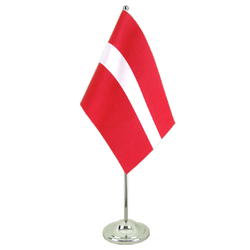 Latvia - Satin Table Flag 6x9""