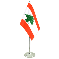 Drapeau de table prestige Liban - 15 x 22 cm