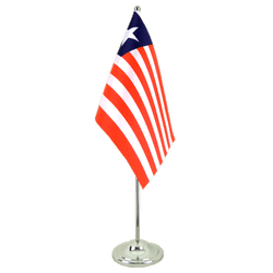 Liberia - Satin Table Flag 6x9""