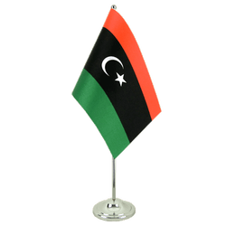 Kingdom of Libya 1951-1969 Opposition Flag Anti-Gaddafi Forces - Satin Table Flag 6x9""
