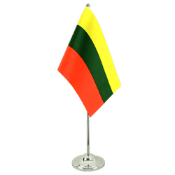 Lithuania  Satin Table Flag 6x9""