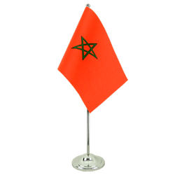 Morocco - Satin Table Flag 6x9""