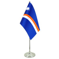 Marshall Islands Satin Table Flag 6x9""