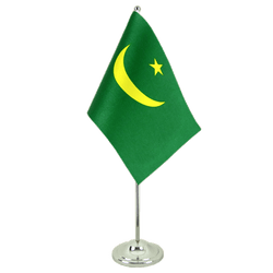 Mauritania - Satin Table Flag 6x9""