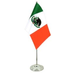 Mexico - Satin Table Flag 6x9""