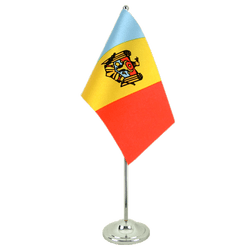 Drapeau de table prestige République de Moldavie 15 x 22 cm
