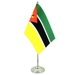 Drapeau de table prestige Mozambique - 15 x 22 cm