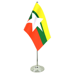 Myanmar new Satin Table Flag 6x9""