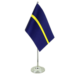 Nauru Satin Table Flag 6x9""