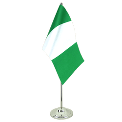 Nigeria Satin Table Flag 6x9""