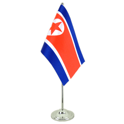 North corea  Satin Table Flag 6x9""