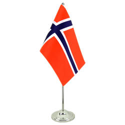 Norway Satin Table Flag 6x9""