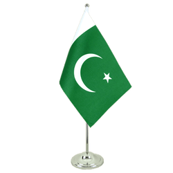 Pakistan Satin Table Flag 6x9""