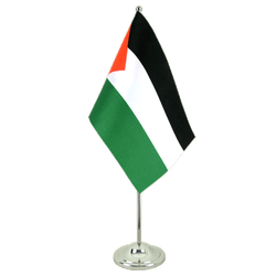 Palestine Satin Table Flag 6x9""